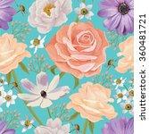 elegance seamless color flower... | Shutterstock .eps vector #360481721