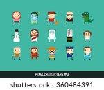 Set Of Different Pixel...