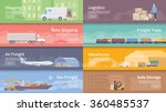 set of flat vector web banners... | Shutterstock .eps vector #360485537