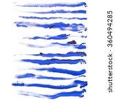 set of grunge long brush... | Shutterstock . vector #360494285