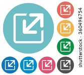 flat resize icon set on round...