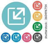 flat resize icon set on round...