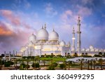 sheikh zayed grand mosque at... | Shutterstock . vector #360499295