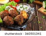 chickpea falafel balls on a... | Shutterstock . vector #360501341