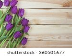 bouquet of lilac tulips on...   Shutterstock . vector #360501677