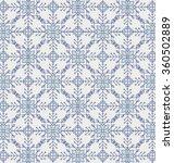 victorian tile. blue pattern.... | Shutterstock .eps vector #360502889