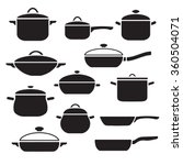 pans and pots collection... | Shutterstock .eps vector #360504071