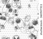 seamless pattern with funny...   Shutterstock . vector #360507311