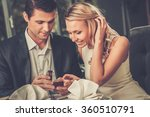 man holding box with ring... | Shutterstock . vector #360510791