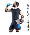 skater drinking water | Shutterstock . vector #360511319