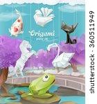 origami paper set  vector... | Shutterstock .eps vector #360511949