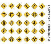 yellow road signs  traffic... | Shutterstock .eps vector #360512975