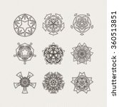 set of ornate vector mandala... | Shutterstock .eps vector #360513851