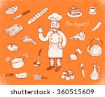 hand drawn doodle cooking set.  | Shutterstock .eps vector #360515609