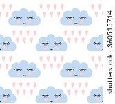 Clouds Pattern. Seamless...