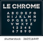 chrome silver metallic font set.... | Shutterstock .eps vector #360516449