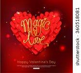 happy valentine's day... | Shutterstock .eps vector #360518081