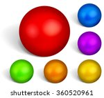 set of multicolored spheres... | Shutterstock .eps vector #360520961
