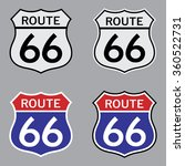 route 66 sign set . vector... | Shutterstock .eps vector #360522731