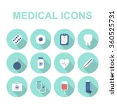 health care and medical icons....   Shutterstock .eps vector #360525731