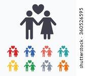 couple sign icon. male love... | Shutterstock . vector #360526595