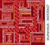business words of white  black... | Shutterstock .eps vector #360530627