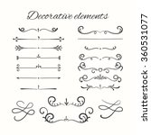 hand drawn dividers set.... | Shutterstock .eps vector #360531077