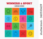winners and sport icons. winner ... | Shutterstock . vector #360533639