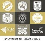 set of vector music production... | Shutterstock .eps vector #360534071