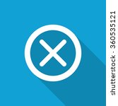flat cancel icon with long... | Shutterstock .eps vector #360535121