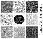 hand drawn seamless patterns... | Shutterstock .eps vector #360536375