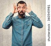 man showing something   Shutterstock . vector #360545981