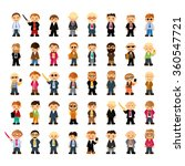 set of people characters in... | Shutterstock .eps vector #360547721