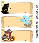 halloween banners collection 3  ... | Shutterstock .eps vector #36055942