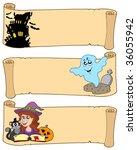 halloween banners collection 3  ... | Shutterstock .eps vector #36055942