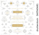 vector set of calligraphic... | Shutterstock .eps vector #360560681