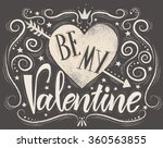 valentines day typography... | Shutterstock .eps vector #360563855