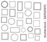 hand drawn frames set. cartoon... | Shutterstock .eps vector #360565691