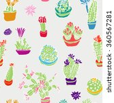 set of  isolated flowering... | Shutterstock .eps vector #360567281