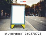 blank billboard with copy space ... | Shutterstock . vector #360570725