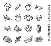 vegetables icon set. vector eps ...   Shutterstock .eps vector #360571031