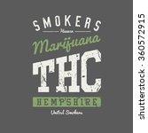 college varsity marijuana weed... | Shutterstock .eps vector #360572915