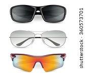 man's sunglasses set. vector ...   Shutterstock .eps vector #360573701