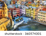 Vernazza Village  Church And...