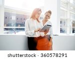 two successful businesswomen... | Shutterstock . vector #360578291