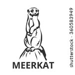 Meerkats Vector Black Icon Log...