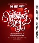 valentines day party flyer.... | Shutterstock .eps vector #360585401