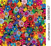 seamless colorful floral... | Shutterstock . vector #36058567