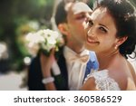 stylish beautiful couple of... | Shutterstock . vector #360586529