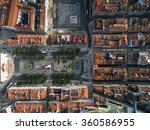 top view of rossio square ... | Shutterstock . vector #360586955